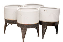 Four Vintage Wash Tubs Royalty Free Stock Photo