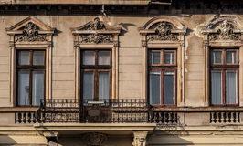 Four vintage windows Stock Image