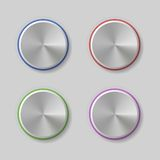 Four Volume Control Dial Button with Color Light Royalty Free Stock Photos