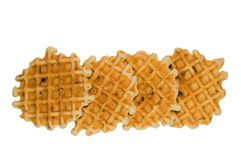 Four waffles with raisins Stock Image