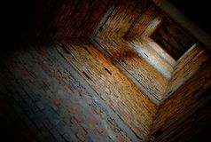 Four walls. The elevator shaft of an unfinished hotel in Yevpatoriya royalty free stock photography