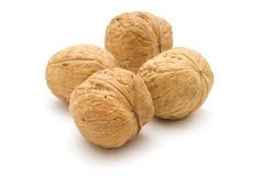 Four walnuts Royalty Free Stock Photos