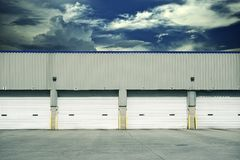 Four Warehouse Gates Royalty Free Stock Photos