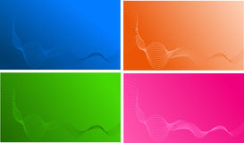 Four wave templates. For design, business card, backgrounds Stock Images