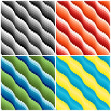 Four wavy seamless patterns Royalty Free Stock Photo