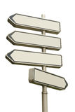 Four-way signpost Stock Images