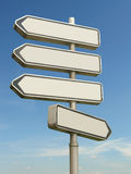Four-way signpost Royalty Free Stock Photos