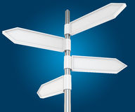 Four ways directions Stock Images