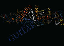 Four Ways To Learn Guitar Text Background  Word Cloud Concept Stock Photo