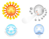 Four weather elements. Royalty Free Stock Photography