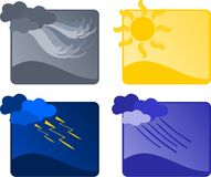 Four weather icons Royalty Free Stock Image