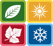 Four weather logo Royalty Free Stock Image