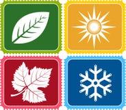 Four weather logo Royalty Free Stock Image