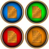 Four web icons Stock Image