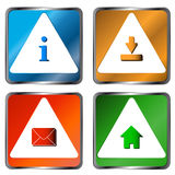 Four web icons Royalty Free Stock Images