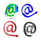 Four web icons e-mail 22.04.13. Four web icons e-mail on a white background for designers for various necessities Royalty Free Stock Photography