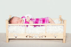 Four weeks old baby's portrait Royalty Free Stock Photo