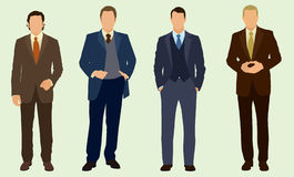 Business Man. Four well-dressed business men Royalty Free Stock Photography