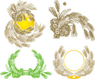 Four wheat sheaf. For all design conditions Stock Photography