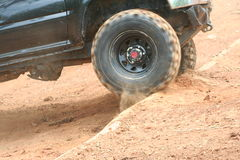Four Wheel Drive. Spinning up hill Royalty Free Stock Image