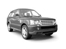 Four-wheel drive black car stock images
