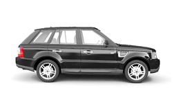 Four-wheel drive black car side view Stock Photo