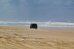Four Wheel Drive on 75 Mile Beach Royalty Free Stock Images