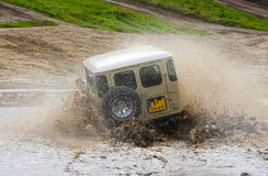 Four wheel drive on muddy track Royalty Free Stock Image