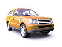 Four-wheel drive orange car Stock Photography