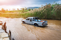 Four-wheel drive pickup truck Stock Photos