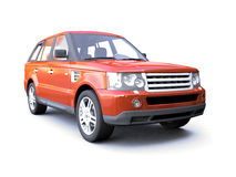 Four-wheel drive red car Royalty Free Stock Image