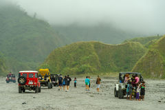 Four-wheel drive tour at Mountain Pinatubo Royalty Free Stock Images