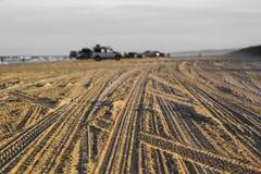Four Wheel Drive Tracks. On 75 mile beach, Fraser Island, Australia Stock Images
