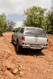 Four-wheel drive vehicle Mitsubishi Triton. Off- road. Stock Photo