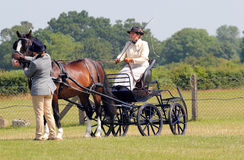 Four wheeled carriage with groom. Stock Images