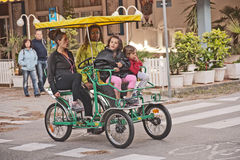 Four wheeled cycle in use in Italy Stock Photos