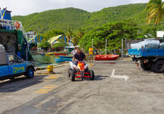 A four-wheeled vehicle in the caribbean Royalty Free Stock Image
