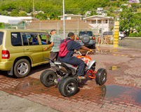 A four-wheeled vehicle in the caribbean Royalty Free Stock Photos
