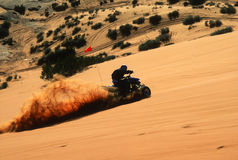 Four Wheeler Having Fun on the Sand Stock Image