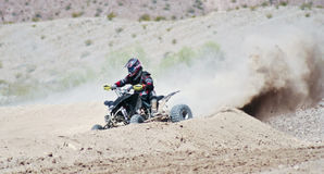 A Four Wheeler Racer Practices at SARA Park Royalty Free Stock Photo
