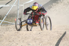 Four Wheelin'. A paraplegic racer rips down the hill in Whistler, BC royalty free stock photos
