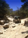 Four Wheelin'. Few people get to see this area of Big Bear, California. Only becuase it is part of a VERY dangerous trail, that is ONLY accessible via true four Royalty Free Stock Image