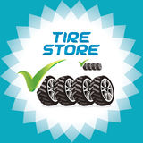 Four Wheels Accept Icons, Illustration, Sign, Symb Royalty Free Stock Photo