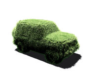 Four wheels drive car. It's a very grassy four wheels car ! A picture to illustrate the ecological clean car concept vector illustration