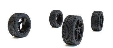 Four wheels Royalty Free Stock Image