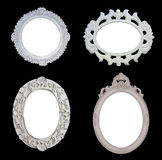 Four White Antique Frames Stock Photos