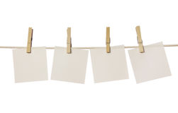 Four white blank notes Royalty Free Stock Images