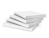 Four white book. Isolated render on a white background Royalty Free Stock Images