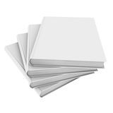 Four white book Royalty Free Stock Photo