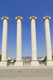Four white columns, Barcelona Stock Photography